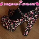 zapatos flores