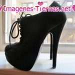 zapatos negros taco alto