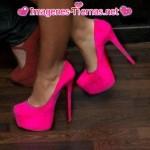 zapatos rosados tacos altos