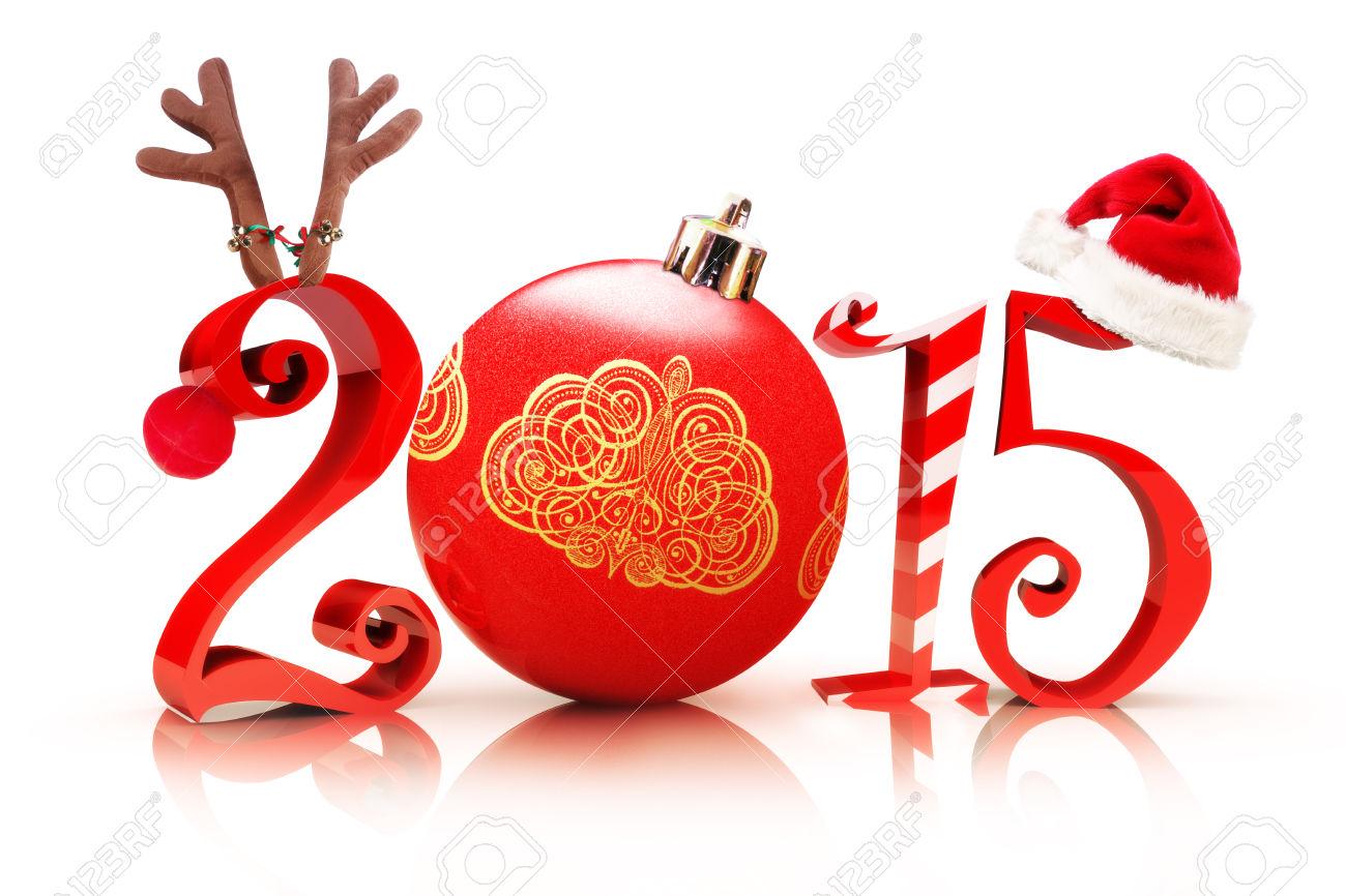 33417364-Natale-2015-in-mostra-2015-Illustrazione-di-testo-con-una-renna-ornamento-di-albero-canna-da-zuccher-Archivio-Fotografico